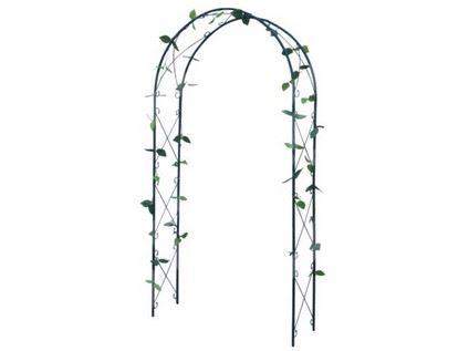 Opěra na popínavé rostliny 230x100x37cm, kovová, černá