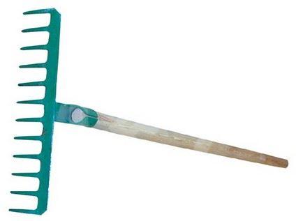 Hrábě ocelové (12 hrot) s dřevěnou násadou 140cm